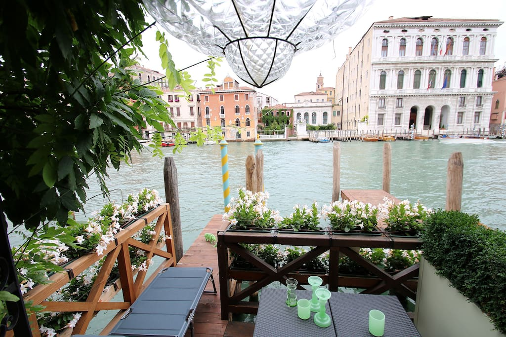 Canal Grande and the private deck