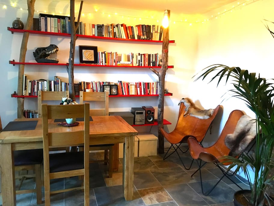 Dining and book area