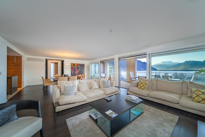 Luxury Apartment Lake view & Center of Montreux