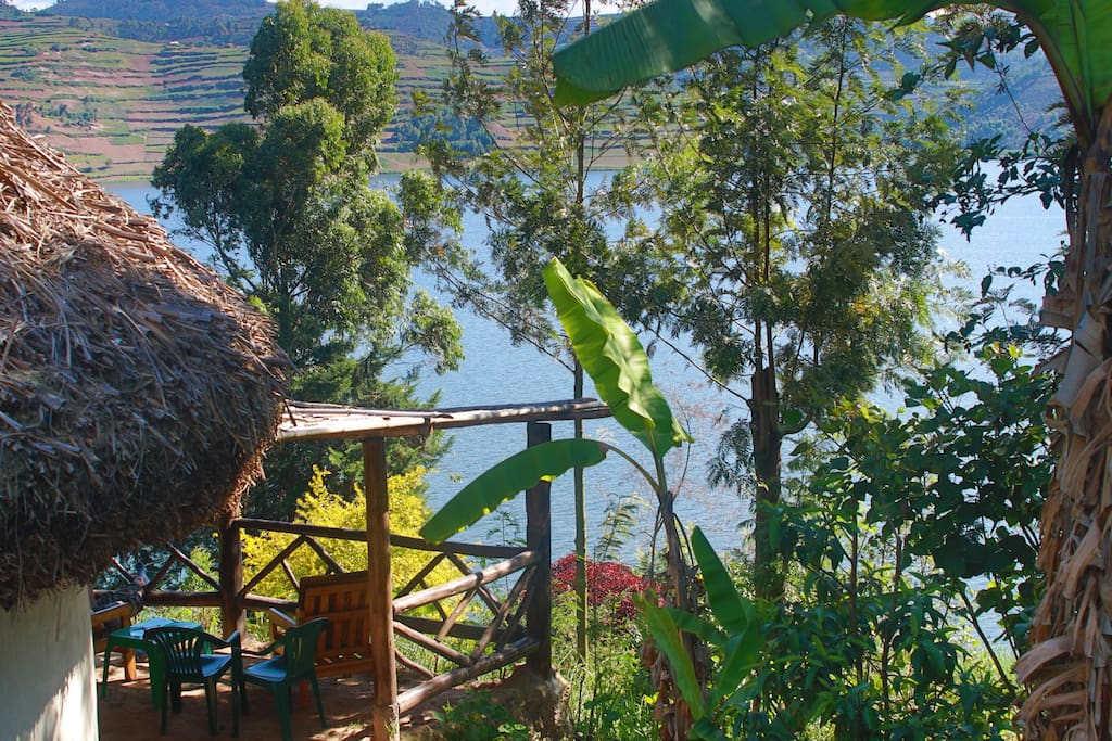 View of the lake from Zebra Cottage