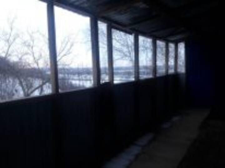 Гостевой домик  на высоком берегу реки Оки.