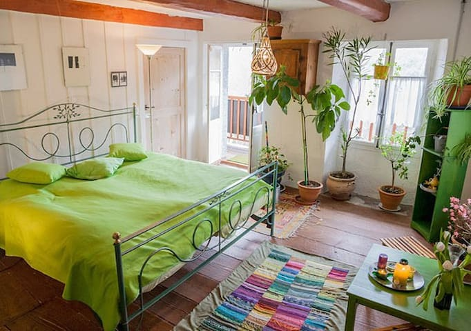 Grünes Zimmer im B&B da Toldo