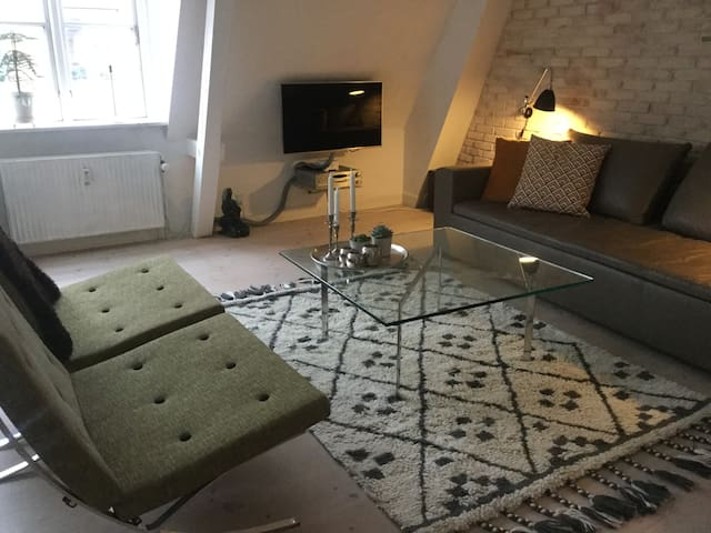 Central Roskilde - 85 m2 apartment + roof terrace - Roskilde - Daire
