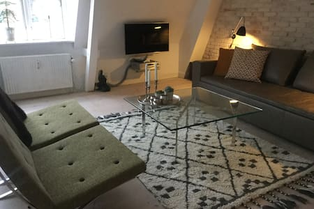 Central Roskilde - 85 m2 apartment + roof terrace - Роскилле