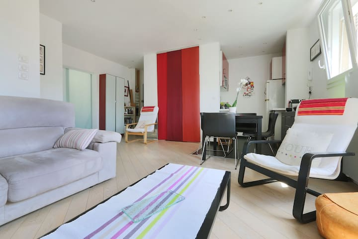 Quiet flat Old Tours, 15min from train station