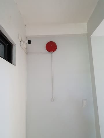 Secured with CCTV, fire alarm for emergencies.