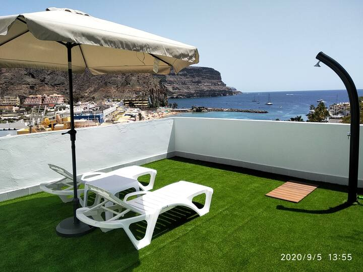 Mele Sky Beach 1, Playa de Mogán terrace sea views