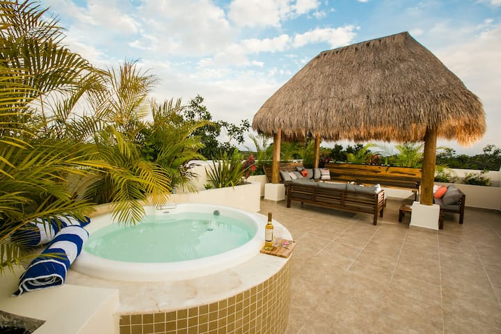 Tulum 2BR Penthouse + Private Rooftop Patio