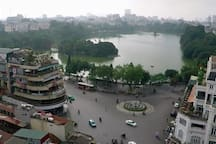 Hoan Kiem lake - 7 minutes by motobike from our house
