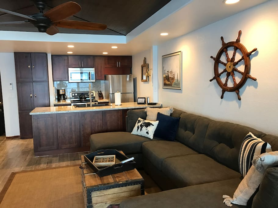 Our spacious condo is fully air conditioned and remodeled!