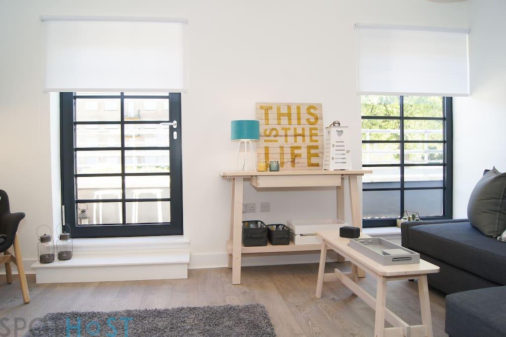 Open Living/Kitchen Area
