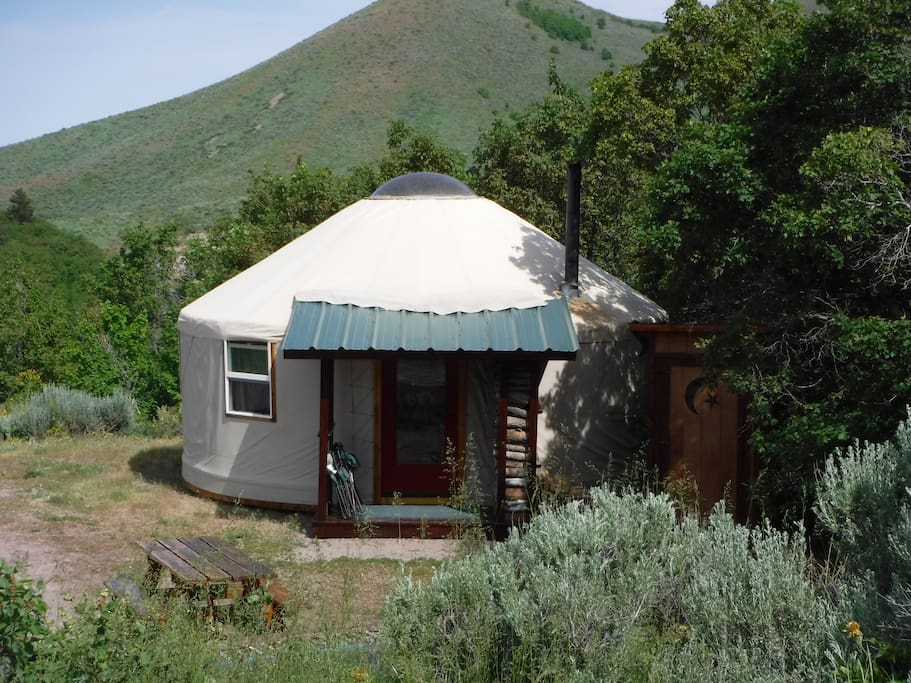 East view of the Yurt.