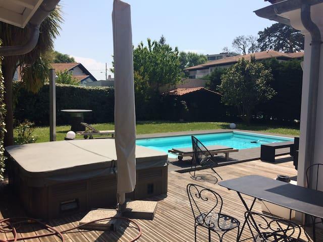 Villa avec piscine 6-8 pers Golf du Phare - Anglet