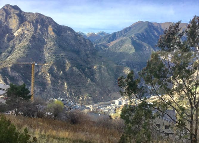 View of Andorra from living room window