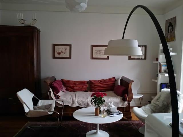 Bedroom in Artist flat - Montreux - Penzion (B&B)