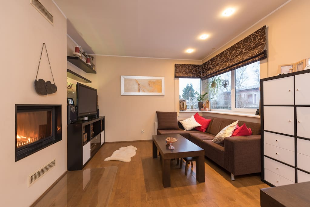 On first floor you will have a sofa and TV in the Livingroom.