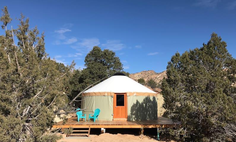 Escalante Yurt lodging (Willow yurt)