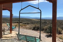 One of a kind! Enjoy the views in a retired chairlift from Taos Ski Valley