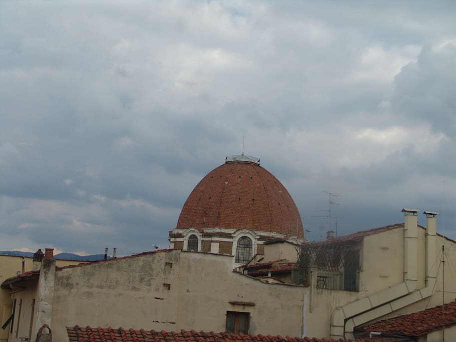the view on Medici Chapels  from the window