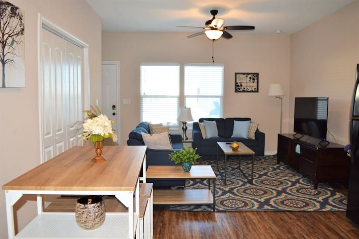 Open concept dining & living room. Gorgeous decor throughout the home!