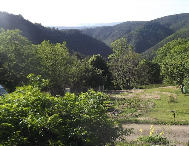 Appartement de charme en sud Ardèche au RDC