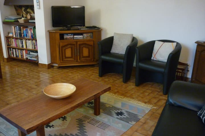 Lounge room with TV & DVD