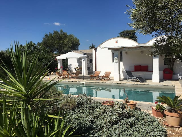 Trullo and Villa with large private swimming pool