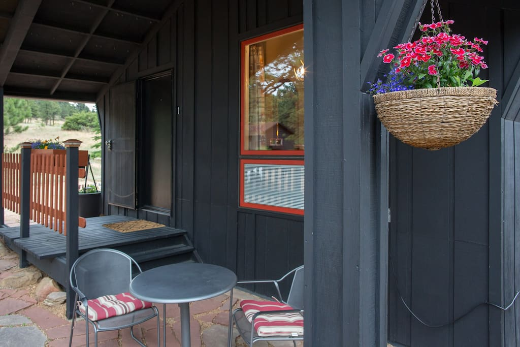 covered patio for breakfast or grilling