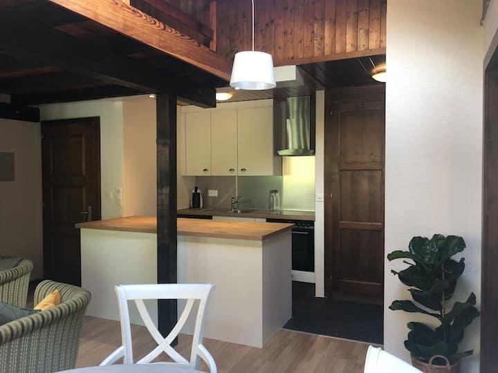 Appartement de montagne mansardé, rénové, au calme