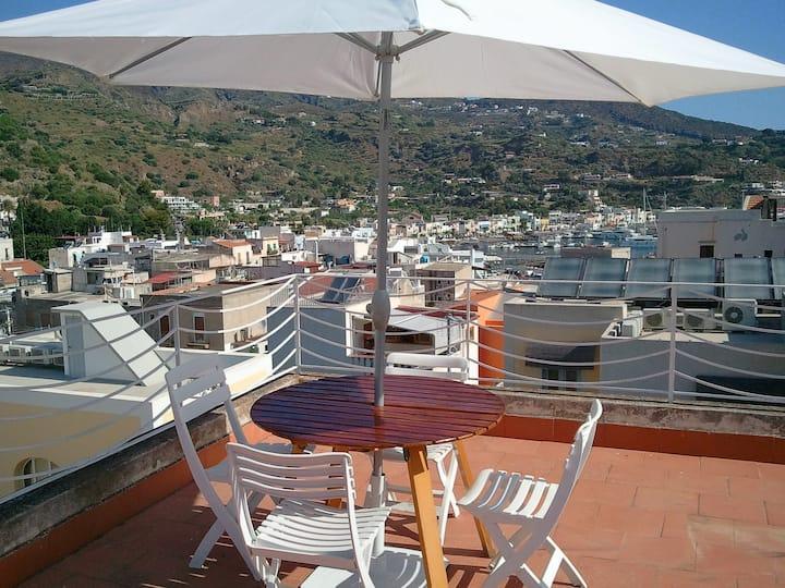 Lipari, city center with panoramic terrace