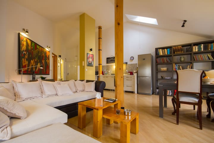 Comfortable loft/Center/60m2/645ft2/1 BD/2 guests