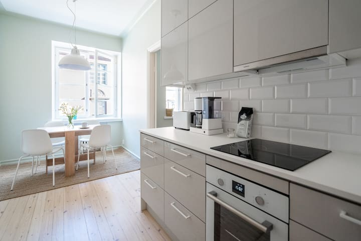 Kitchen is equipped with all the basic amenities. Feel free to use everything you might find from cupboards.