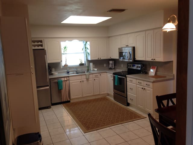 Eat in Kitchen has all new stainless appliances.