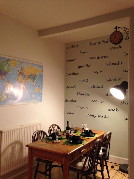 The Scottish word wall and our world map