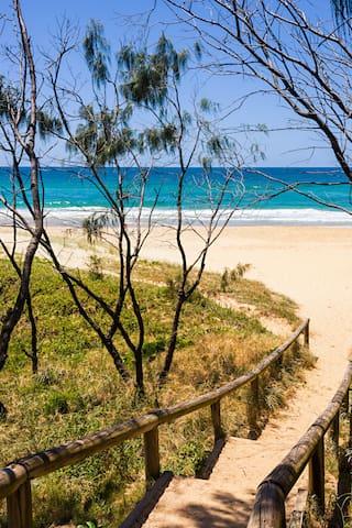 Gorgeous Sunrise Beach just a short stroll away