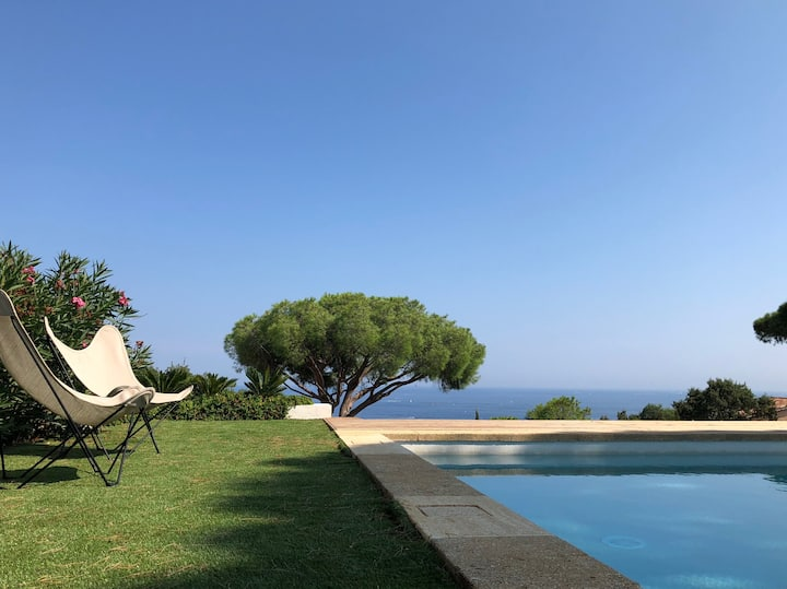 Villa Heaven Blue  Vue mer piscine