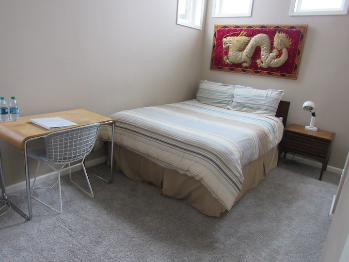 Light Airy Bedroom for Two Close to Adidas Campus