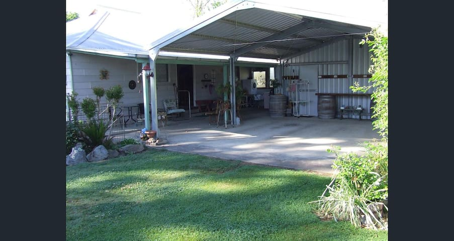 Double carport and back porch.