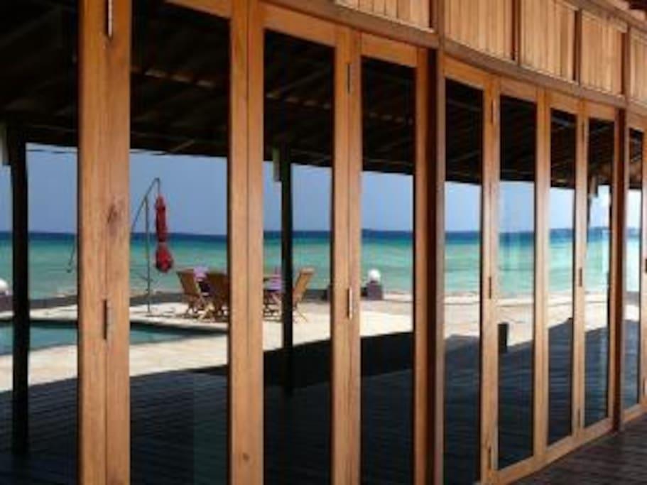 Spacious verandas