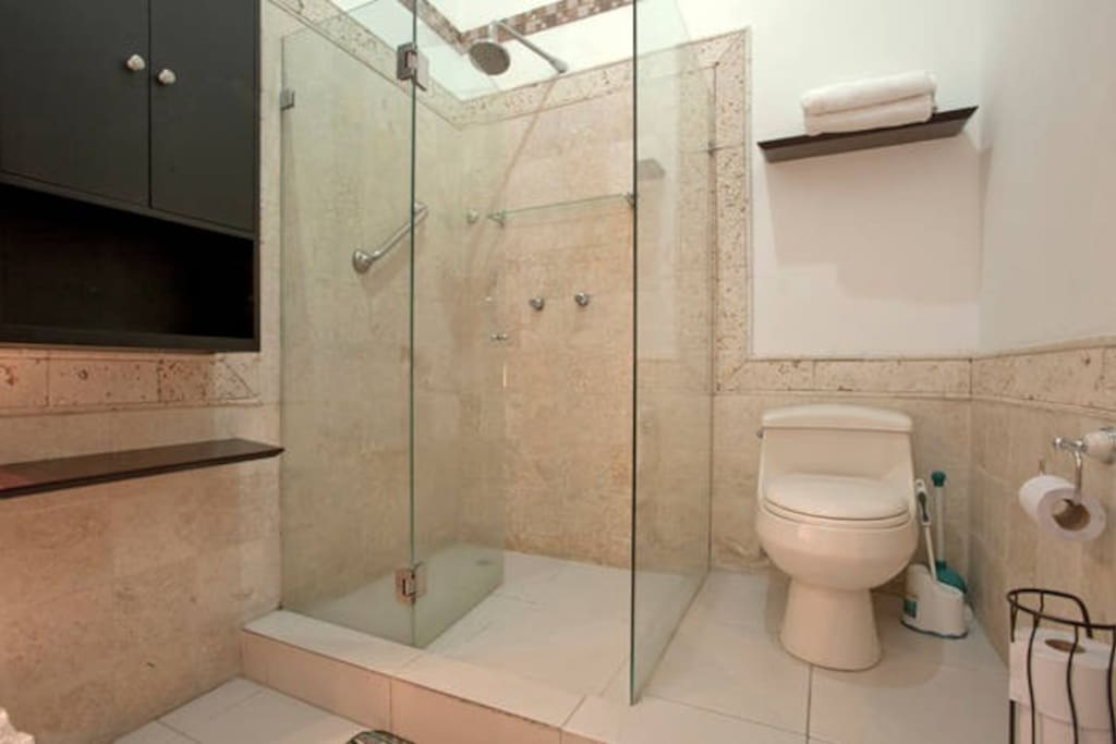 En-suite bathroom - can also be accessed from the living area.