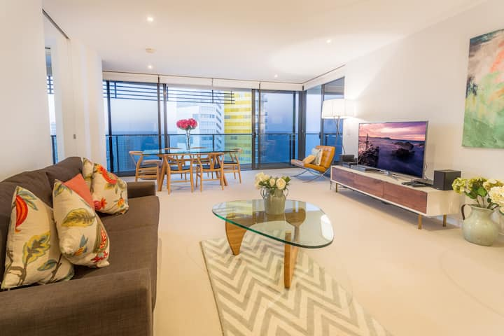 Open plan apartment  High floor ocean views