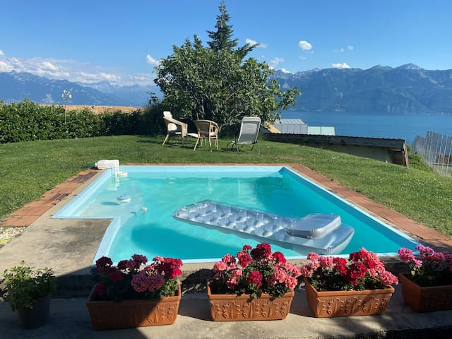 Beautiful house with pool in Lavaux vineyards