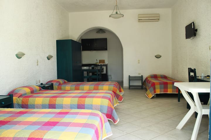 Tagoo Studio Quad-Room With Garden View - Tourlos - Apartamento