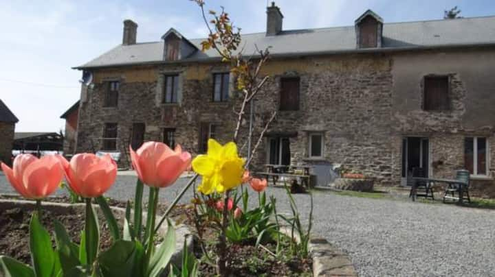 Chambres d'hotes - Twin Room (1) - 10km Saint-Lo