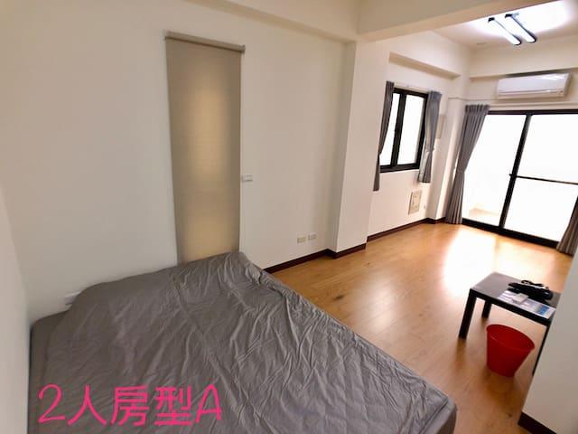澎湖樂鬧 301 - 二人房 : 簡單大方的舒服房間