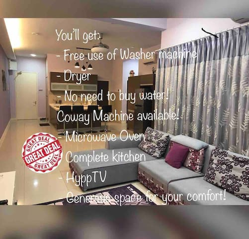 Stylish Home! Clean.Comfy.Pool@ Imago,KK city