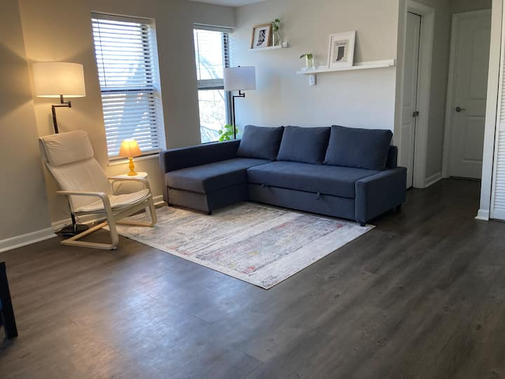 Cozy Apartment Steps Away from Shopping & Dining