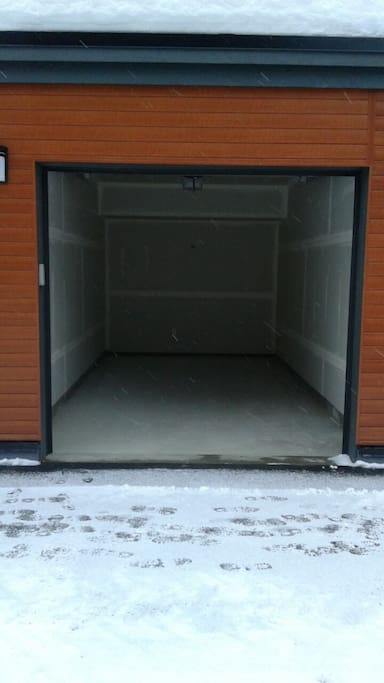 Private garage, and a visitor parking spot