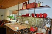 Nicely outfitted kitchen