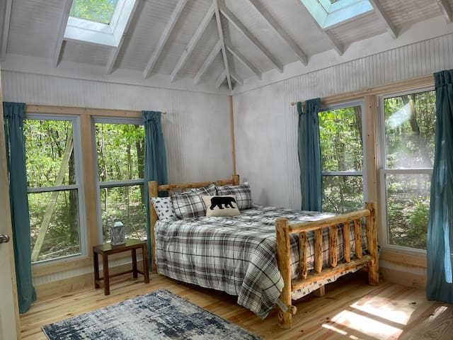 Emerge yourself in nature. The skylights add a unique view.
